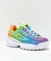 Nuevo Fila Disruptor II Premium Tie-Dye Plataforma Mujer Iris Zapatos Multicolor - $98.99+