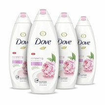 4 PACK DOVE BODY WASH PEONY & ROSE OIL EFFECTIVELY WASHES AWAY BACTERIA   - $49.50