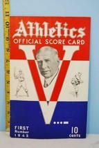 1942 Philadelphia Athletics v St. Louis Browns Scorecard 16 inning Game ... - $44.55