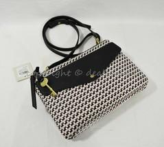 NWT Fossil ZB7605134 Devon Flap Crossbody Bag in Brown/Black/Cream - $79.00