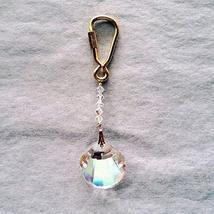 J'Leen Crystal Keyring - 28mm Aurora Borealis Seashell - $19.00