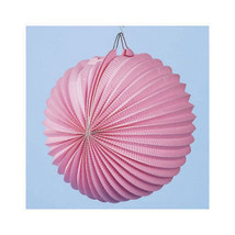 Large Pink Paper Lanterns Pack of 12 Party Decoration Lanterns Wedding D... - ₨625.12 INR