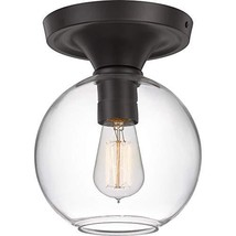 Quoizel QF4058OZ Hawley Glass Semi Flush Mount Ceiling Lighting, 1-Light... - $158.72