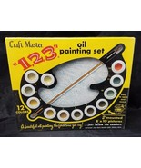 Craft Master Paint by Numbers, 1,2,3, Oil Painting, 1963 K-49 Rocky Coas... - $125.77