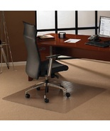 Floor Protector Carpet Chair Mat Clear 48 x 48 Pile Rug Casters Wear Pre... - $108.49