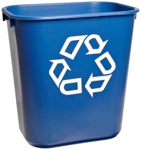 Rubbermaid Commercial 295573BE Small Deskside Recycling Container, Recta... - $16.10