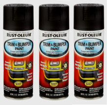 3~ Rust-Oleum Automotive Matte Black Spray Paint Trim & Bumper Fast Dryi... - $18.99