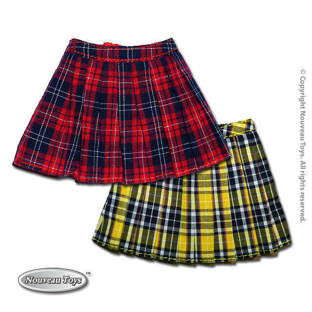 Primary image for 1/6 Scale Phicen, Hot Toys, NT Female Red & Yellow School Plaid Skirts Combo Set