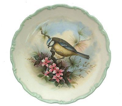 Royal Albert Woodland Birds Collection Blue Titmouse Plate Bird Plate CP2525