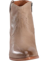 Frye Women's Reina Ash Grey Leather Western Ankle Bootie 3479258-ASH NIB image 5