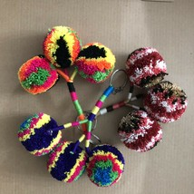 3 Pcs Wayuu Colorful Pom Pom Keychain (set #1) - $20.00