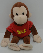 "Applause Classic Curious George Monkey Plush Red Shirt Bean Bag 16"" - $18.52"