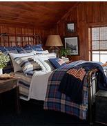 Ralph Lauren Saranac Peak Bentwood Blue/Multi Plaid Duvet Cover Full/Queen - $134.00
