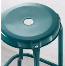 IKEA Raskog Metal Bar Stool Chair Blue 002.993.21 NEW In Package image 2