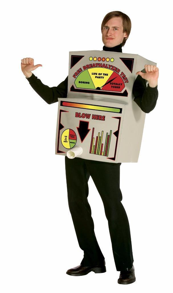 Breathalyzer Costume Adult Halloween Party Unique Funny Cheap GC6984
