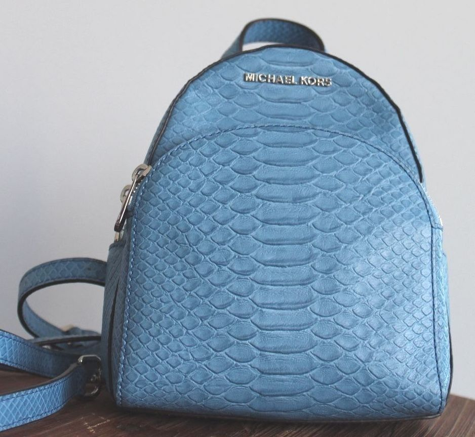 294b5e3004 S l1600. S l1600. NWT MICHAEL KORS EMBOSSED LEATHER ABBEY XS BACKPACK BAG ~ SKY  BLUE  NWT MICHAEL ...