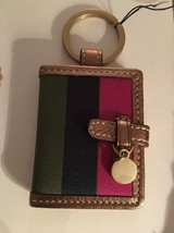 COACH Fob Photo Holder/Book Stripy Charm Hangtag Keychain; Cute,yet Chic... - $38.00