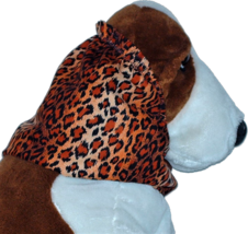 Leopard Ombre Stripe Cotton Dog Snood by Howlin Hounds Size Puppy Short - $9.50