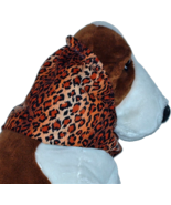 Leopard Ombre Stripe Cotton Dog Snood by Howlin Hounds Size Puppy Short - $11.00