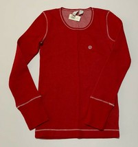 NWT Old Navy Girls Red Thermal Henley Long Sleeve Size L - $8.91