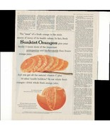 Sunkist Oranges Give Your Family Protopectins Fresh 1960 Antique Adverti... - $1.50