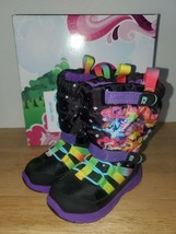 New Stride Rite Girls Made2Play  Black/Multicolors Boots Size 5.5M - $27.71