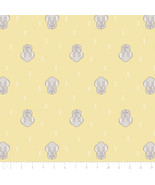 Disney Dumbo Elephant Dreaming Yellow Camelot 100% cotton fabric by the ... - $9.97