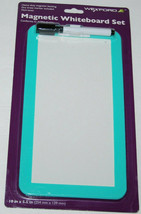Locker Magnetic Whiteboard For School Teal 10 X 5.5 With Marker NEW - $8.74
