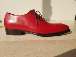Handmade Red Heart Medallion Lace up Dress/Formal Oxford Shoes For Men image 5