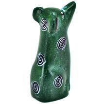 Vaneal Group Hand Carved Kisii Soapstone Green Puppy Dog Miniature Figurine image 4