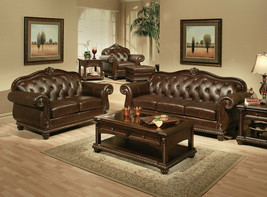 NEW Living Room 4 piece Couch Set BROWN LEATHER Sofa Loveseat Chair Otto... - $4,295.72