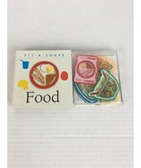 Vintage Food by Fit A Shape Childrens Puzzle Board Book Running Press 1997 - $24.74