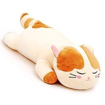 "Lazada Plush Cat Stuffed Kitty Super Soft Animal Pillows for Kids Adult Toys 22"""
