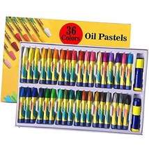 36 Colors Oil Pastels Sticks with Pastel Holders and Sharpeners for Kids... - $18.29
