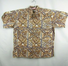Reyn Spooner Henley Camp Hawaiian Shirt Geometric Surf Beach Men's XXL  - $25.81