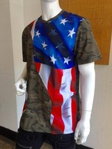 Men's Camo American Flag Tee Shirt by Hudson - $62.10