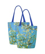 Set of TWO Almond Blossom Van Gogh Art Canvas Tote Bag Two Sides Printing - $29.99