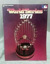 1977 World Series Official Program Unscored vintage - $18.52