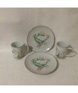 Fitz & Floyd Set of Two Dessert Plates & 2 Cups Bunnies & Carrots Variat... - $20.00