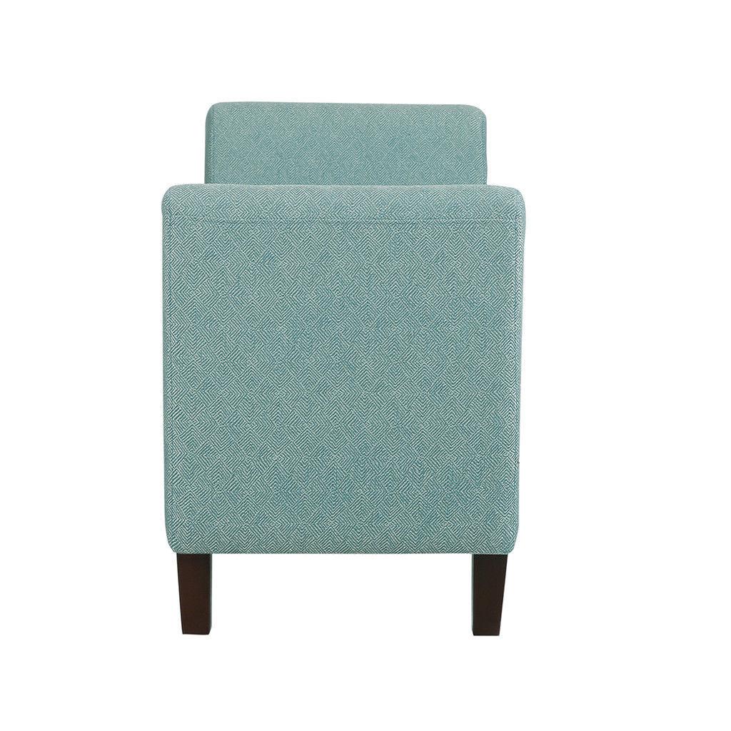 Contemporary Living Spring Blue Fabric Storage Bench ...