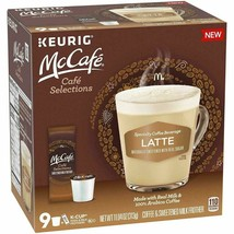 9 McCafe Latte Sweet & Creamy Keurig K-Cup Pod Cups Coffee-Milk Froth Pkts-1 Box - $17.39