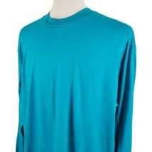 Vintage Fruit of the Loom Long Sleeve T-Shirt XXL Crew Turquois Single S... - $21.99