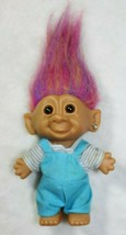 Bright Of America Troll Rainbow Hair Earring Gem Toy Doll Collectible Tr... - $19.79