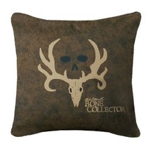 Bone Collector Square Logo Pillow, Brown - $30.11
