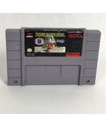 Tecmo Super Bowl I SNES Video Game Cartridge Vintage Genuine Super Nintendo - $19.87