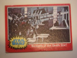 Star Wars Series 2 (Red) Topps 1977 Trading Card # 81 Weapons Of the Death Star - $1.49