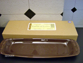Longaberger Woven Traditions Pottery Olive Plate- CHOCOLATE!- NIB! - $19.24