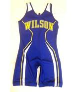 Lady Mules Wilson Full Sports Large Singlet Blue Yellow - $58.49