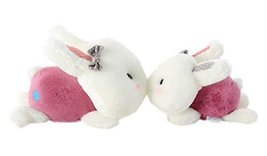 Set of 2 Lovely Rabbit Car Odor Charcoal Bag Car Air Freshener/Purifying Bag Red