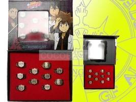 Hitman Reborn Sawada Tsunayoshi Vongola Originals Logo Ring set - $14.75
